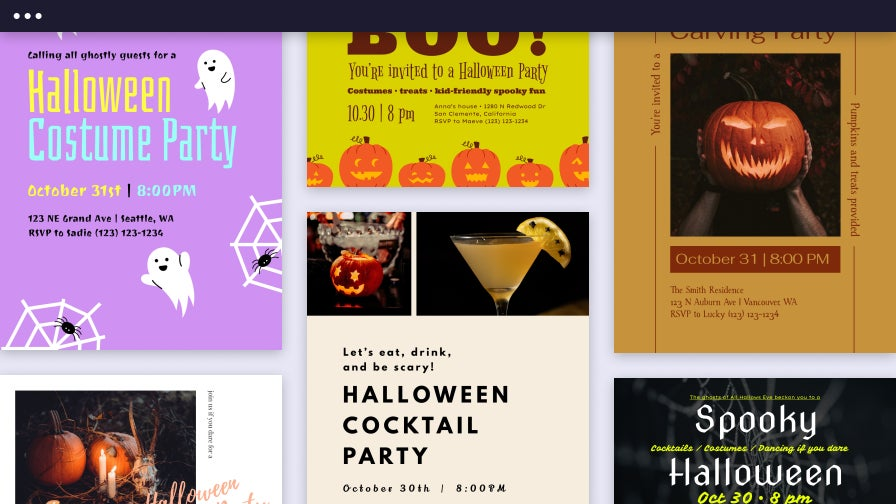 Halloween Party Invitation Templates by BeFunky