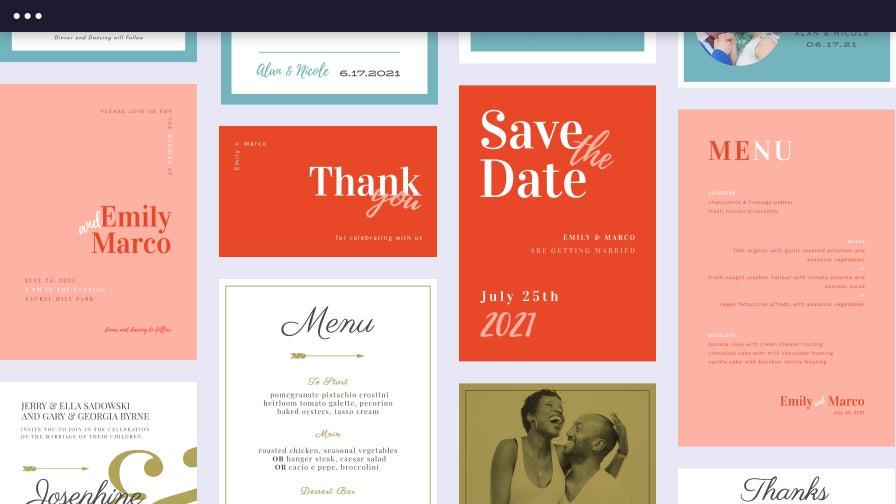 Wedding template suite
