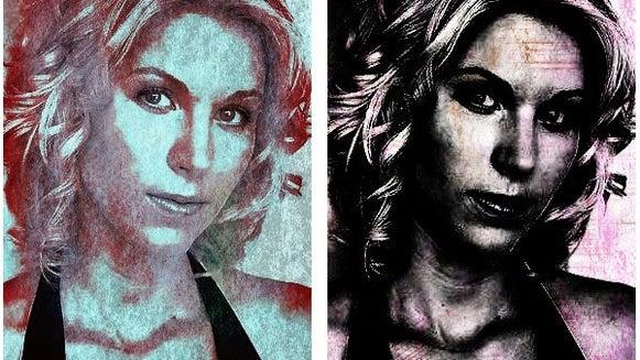Kara's Portrait with Grunge Effects