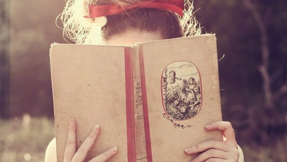 Person, Human, Female, Book, Reading, Face