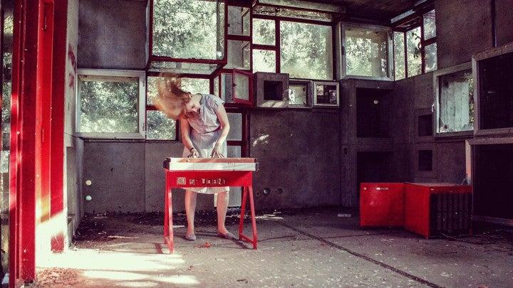 Person, Human, Chair, Furniture, Blonde, Teen