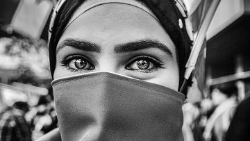 Clothing, Apparel, Person, Human, Face, Veil