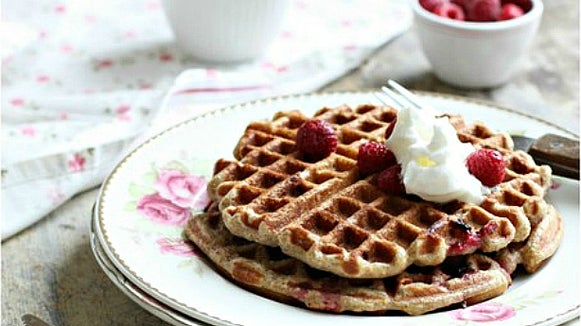 Food, Waffle, Dish, Meal, Sweets, Confectionery