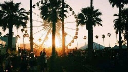Person, Human, Silhouette, Outdoors, Ferris Wheel, Amusement Park