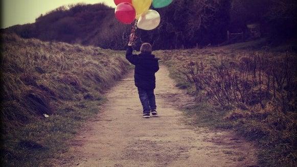 Balloon, Ball, Person, Human, Path