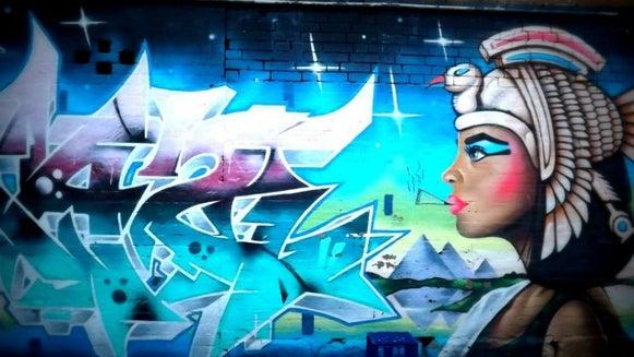Graffiti, Art, Mural, Painting, Person, Human