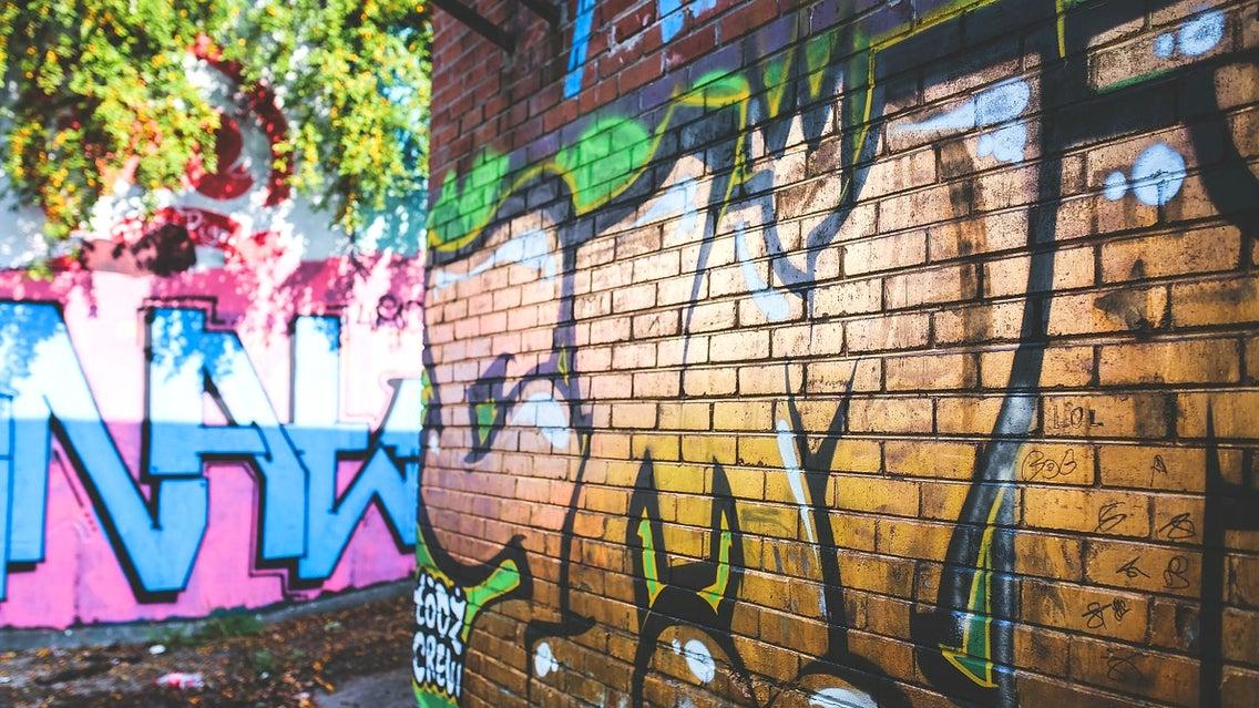 Graffiti, Brick, Art, Mural, Painting, Bird