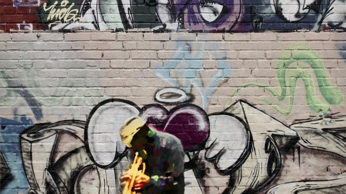 Graffiti, Person, Human, Art, Mural, Painting