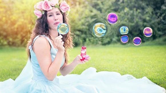 Person, Human, Bubble, Female