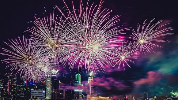 Nature, Outdoors, Night, Fireworks
