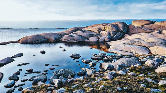 Promontory, Rock, Water, Rubble, Nature, Outdoors
