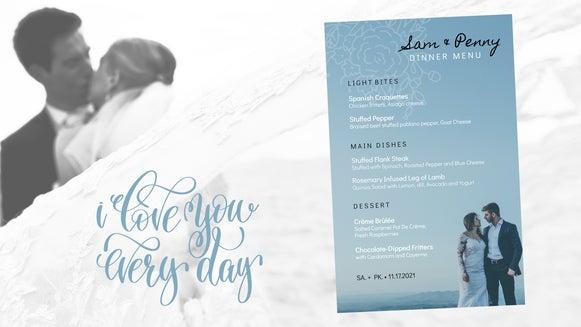 wedding menu featured