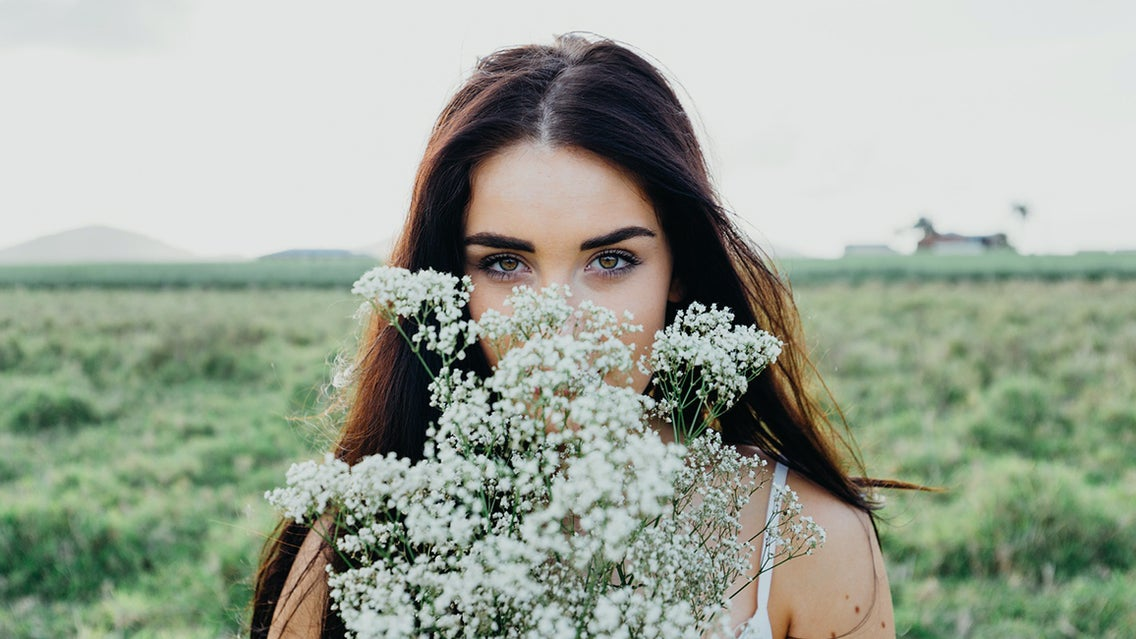 Person, Human, Face, Plant, Flower, Blossom