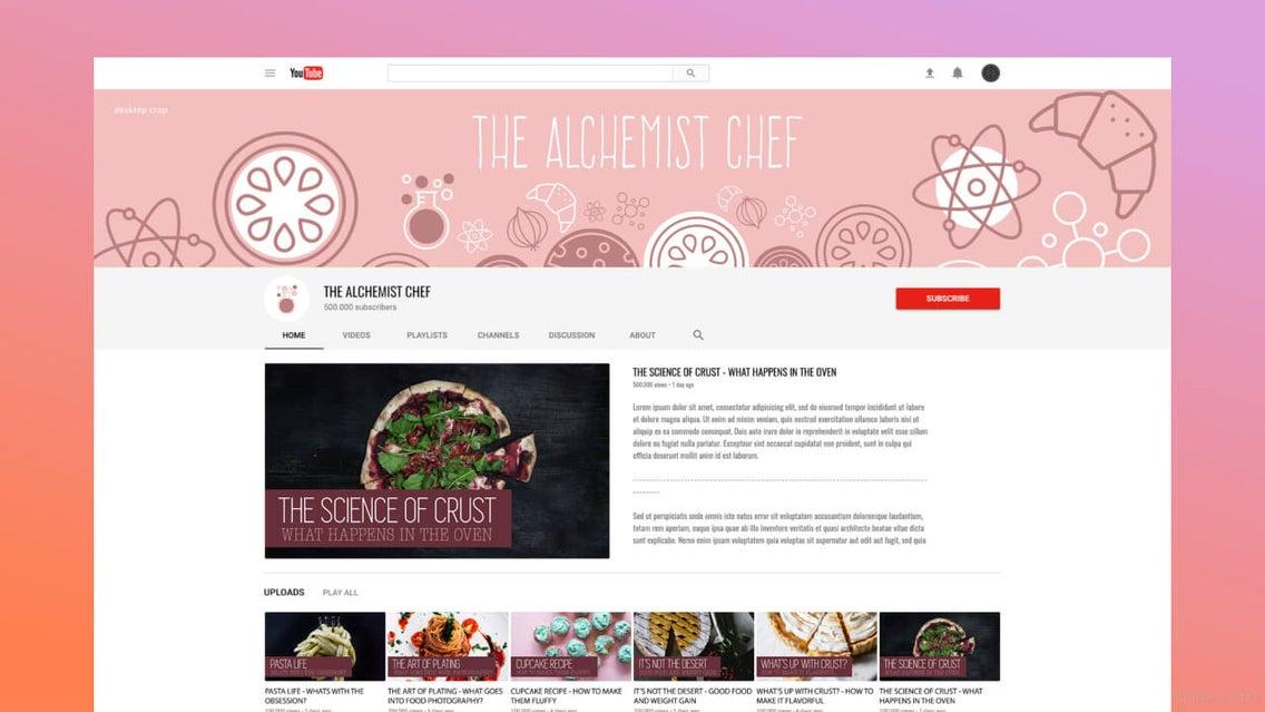 youtube channel art maker by befunky