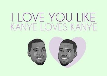 kanye loves kanye valentine message by BeFunky