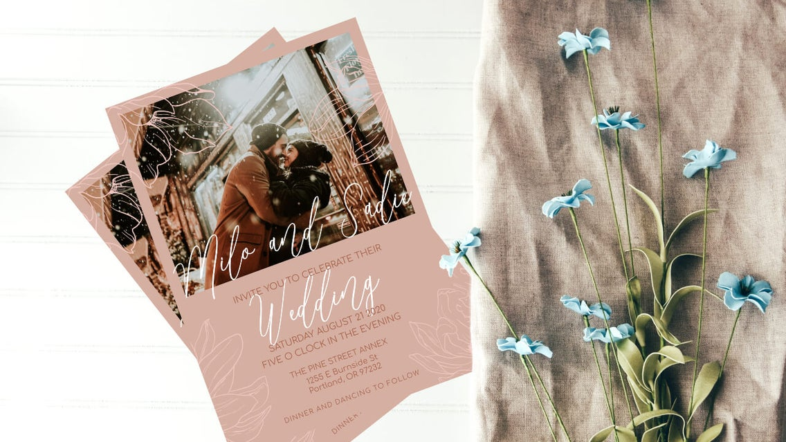 wedding invite templates by BeFunky