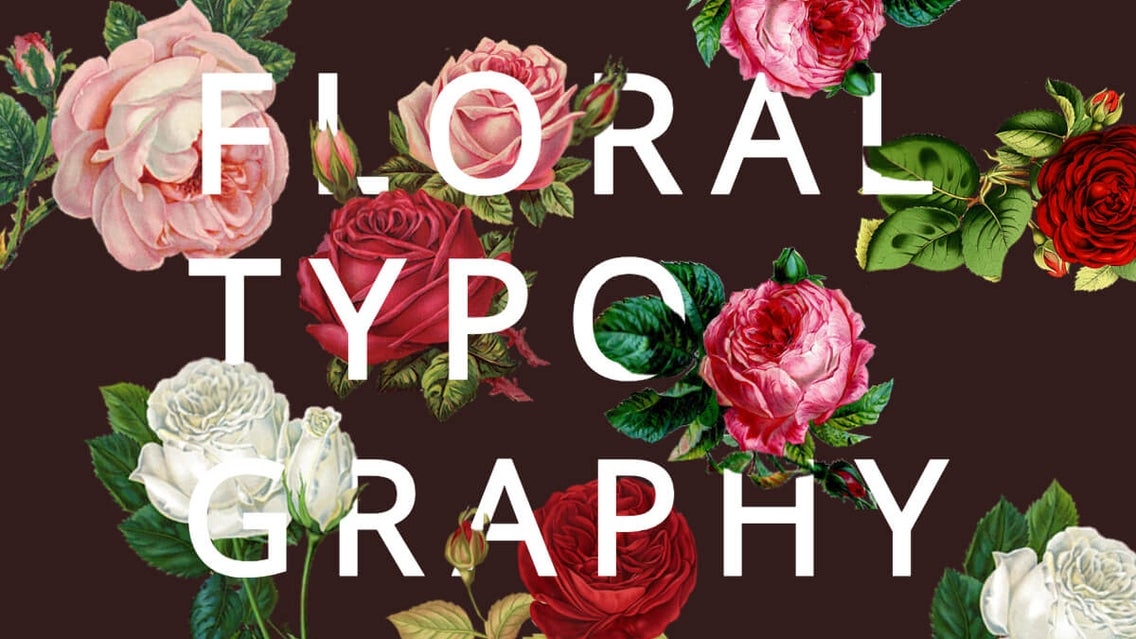 floral typography tutorial by BeFunky