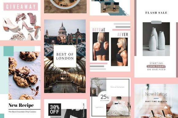 Instagram design templates by BeFunky