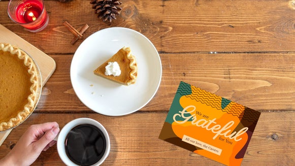 how to create thanksgiving cards for mailing