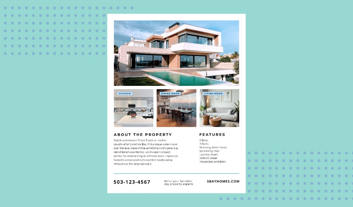 Real Estate Flyer Maker by BeFunky