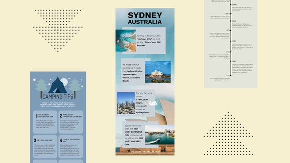 how to design infographics in BeFunky